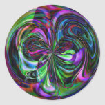 Mandala mágica del bastón - pegatina abstracto del