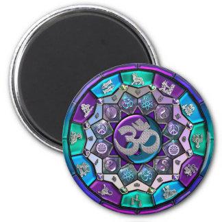 Mandala Magnet 2 Inch Round Magnet