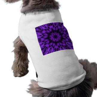 Mandala manchada de la púrpura del leopardo playera sin mangas para perro
