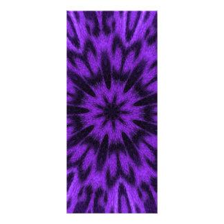 Mandala manchada de la púrpura del leopardo tarjeta publicitaria a todo color