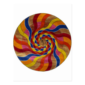 "Mandala Mantra ""Om mani peme hung "" Postal"