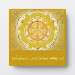 Mandala Meditationsplatte, pequeño en el oro