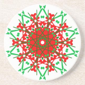 Mandala Medley on Sandstone Drink Coasters