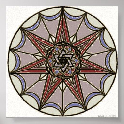 Mandala mística posters