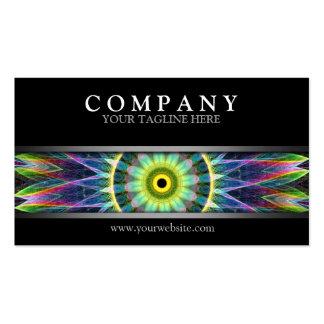 Mandala moderna del ojo de la flor tarjetas de visita