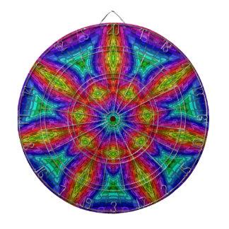 Mandala Mosaic Dartboard With Darts