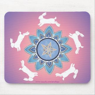 Mandala Mousepad trullo del conejo del baile Tapetes De Ratones