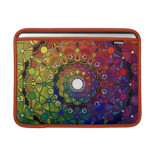 Mandala multicolor fuerza y protección - M1 Fundas Para Macbook Air