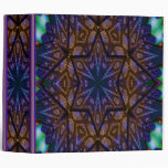 """Mandala multicolora 2"""" carpeta de anillo"""