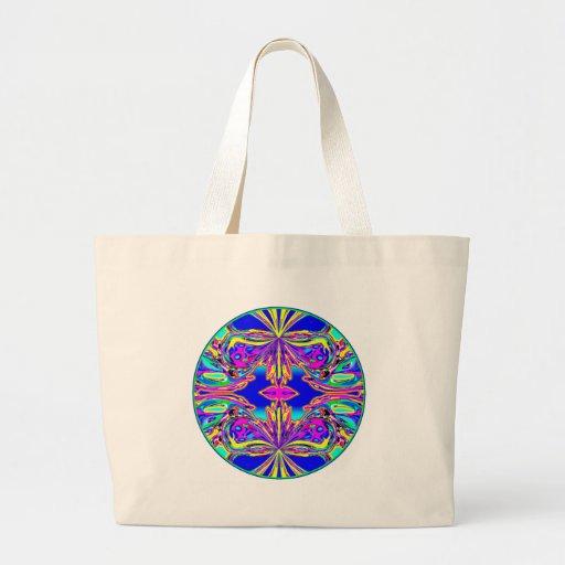 """Mandala multicolora de la mariposa "" Bolsa Tela Grande"