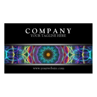 Mandala multicolora moderna tarjetas de visita