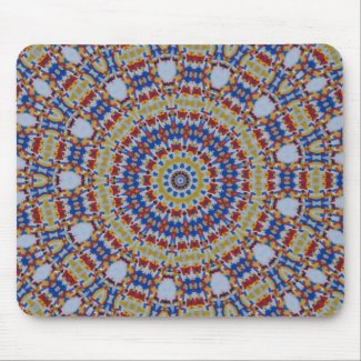 Mandala multicolored plastic components