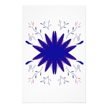 Mandala natural bluewhite stationery