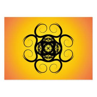 Mandala negra del caleidoscopio de Swirly Plantilla De Tarjeta Personal