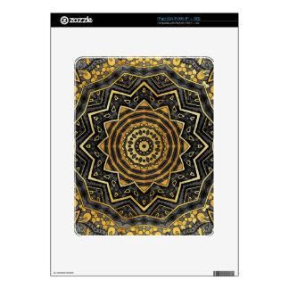 Mandala negra del zafiro calcomanía para el iPad