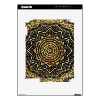 Mandala negra del zafiro calcomanía para el iPad 2