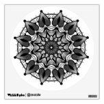 Mandala negra y gris vinilo decorativo