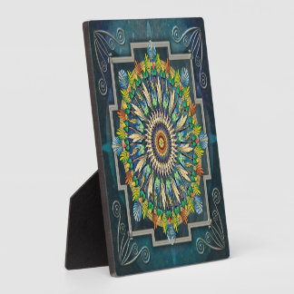Mandala Night Wish Plaque with Easel