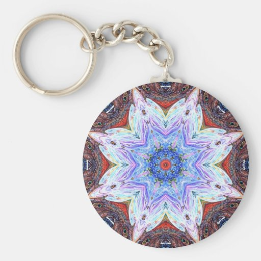 Mandala ningunos de Flowerdew 2 Llaveros Personalizados