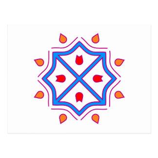 Mandala octágono octagon postales