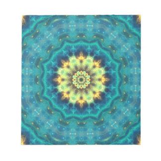 Mandala ocultada de Lotus Bloc De Papel