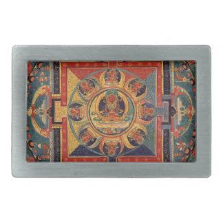 Mandala of Amitayus. 19th century Tibetan school Belt Buckle