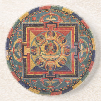 Mandala of Amitayus. 19th century Tibetan school Coaster