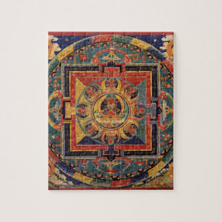 Mandala of Amitayus. 19th century Tibetan school Jigsaw Puzzle