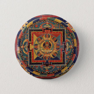 Mandala of Amitayus. 19th century Tibetan school Pinback Button