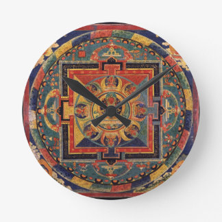 Mandala of Amitayus. 19th century Tibetan school Round Clock