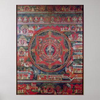Mandala of Amoghapasa Print