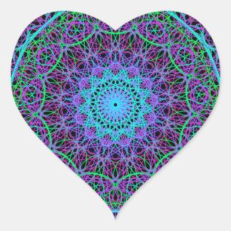 Mandala of Meaning Heart Sticker