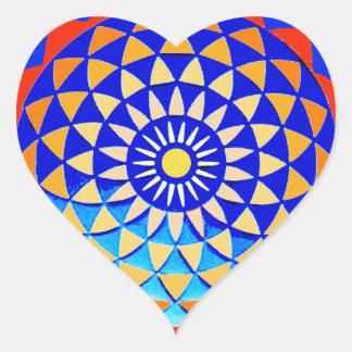 Mandala of Peace & Love Heart Sticker