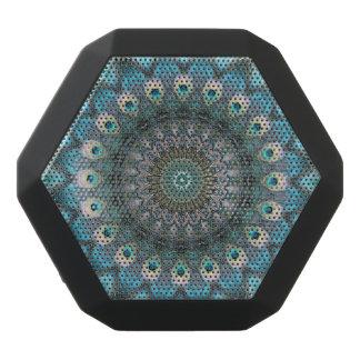 Mandala Of Peacock Eyes Black Bluetooth Speaker