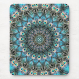 Mandala Of Peacock Eyes Mouse Pad