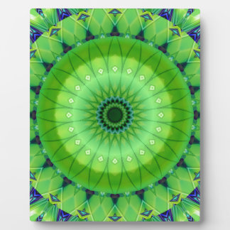 Mandala of spring awake created by Tutti Photo Plaque