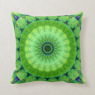Mandala of spring awake created by Tutti Throw Pillow