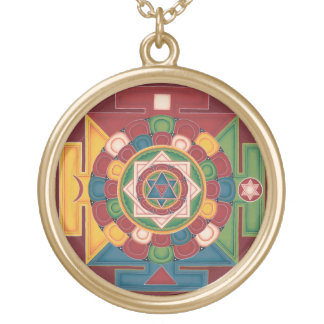 Mandala of the 5 Earth Elements - necklace round