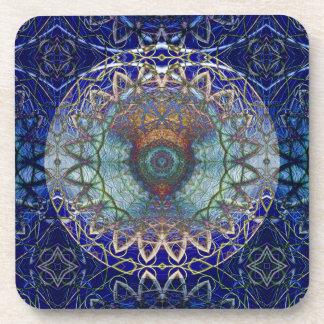 Mandala of the Noedic Web  Cork Coaster Set