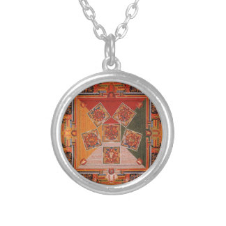 Mandala Of The Six Chakra Round Pendant Necklace