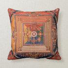 Mandala of Vajradhatu Thangka Throw Pillow