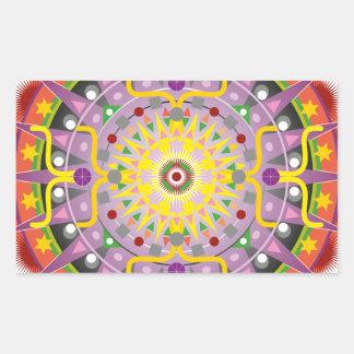 Mandala OKO.ai Rectangular Sticker
