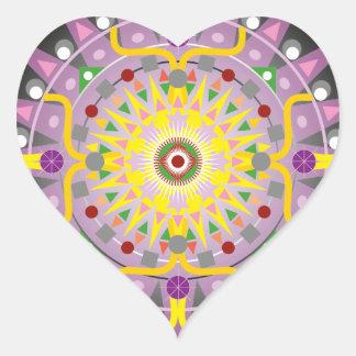 Mandala OKO.ai Heart Sticker