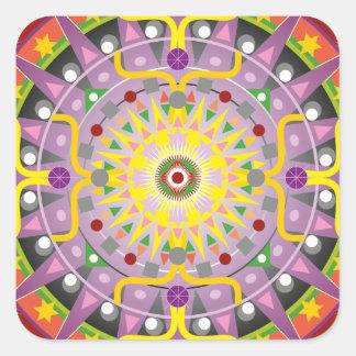 Mandala OKO.ai Square Stickers