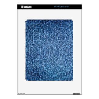 Mandala on Blue Jeans Skin For iPad