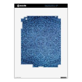 Mandala on Blue Jeans Skin For iPad 2