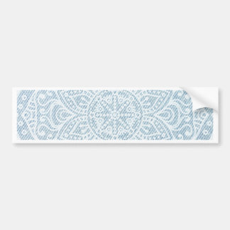 Mandala on Light Blue Jeans Bumper Sticker