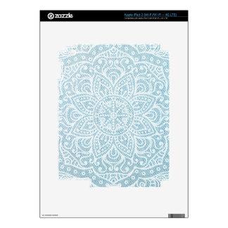 Mandala on Light Blue Jeans iPad 3 Skins