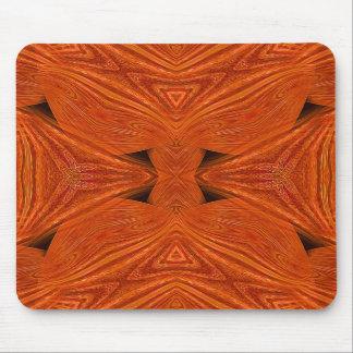 Mandala ondulada Mousepad del naranja 3D