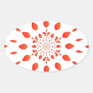 Mandala Oval Sticker